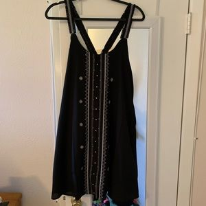 Black and White Embroidered Spring Dress